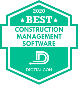 Premier Construction Software was named the best construction management software in 2020 by Digital.com
