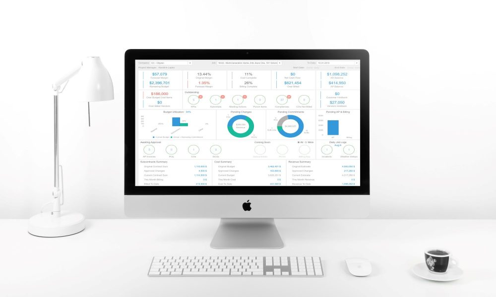 Job Dashboard feature for Project Managers in Premier Construction Software